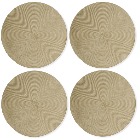 Natural  Round Woven Placemats - Set of 4