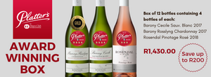 Rosendal award-winning and private cellar collection specials