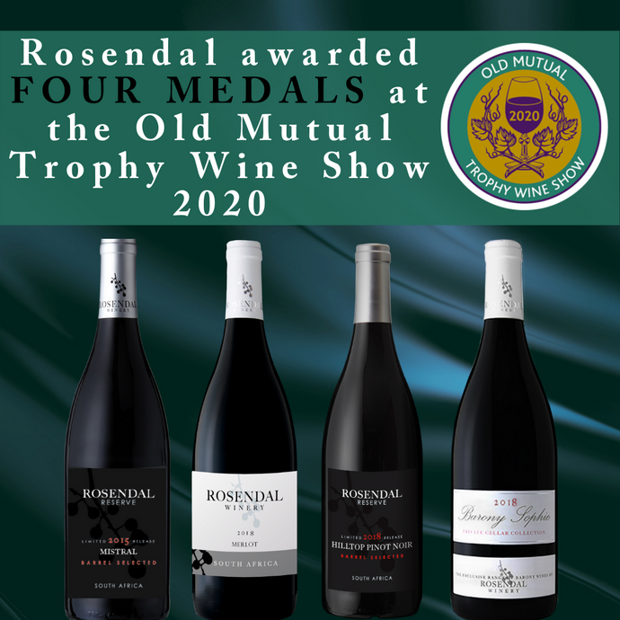 Rosendal awarded four medals at Old Mutual Trophy Wine Show 2020