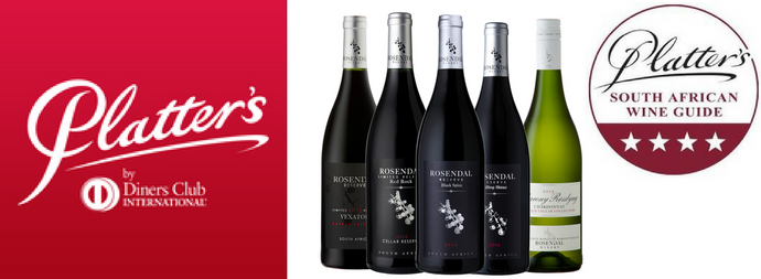 Rosendal Wines receives Four Stars in Platter's South African Wine Guide 2018