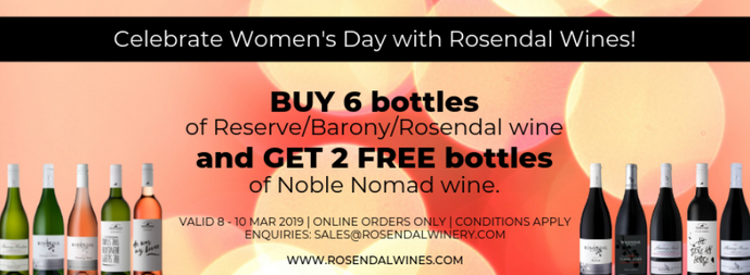Celebrate Women's Day with Rosendal Wines