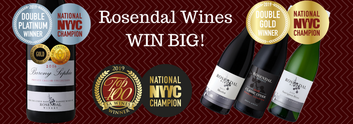 Rosendal Wines WIN BIG at the 2019 NWC Top 100 Wine Awards