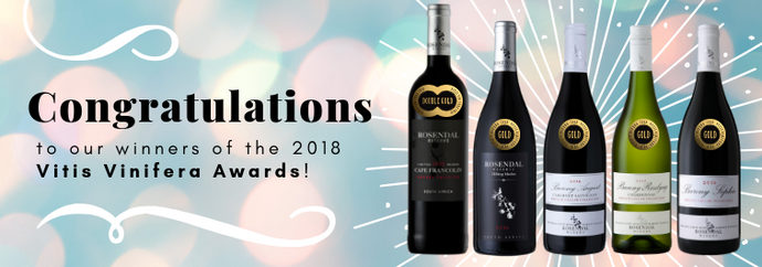 Congratulations to our winners at the 2018 Vitis Vinifera Awards