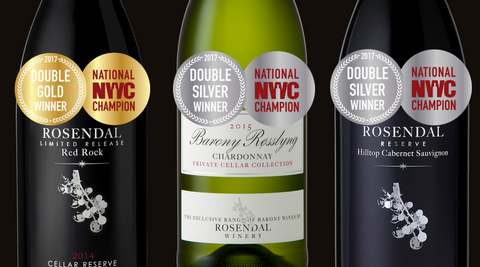 Rosendal Wines win Double Gold and Double Silver in National Wine Awards 2017