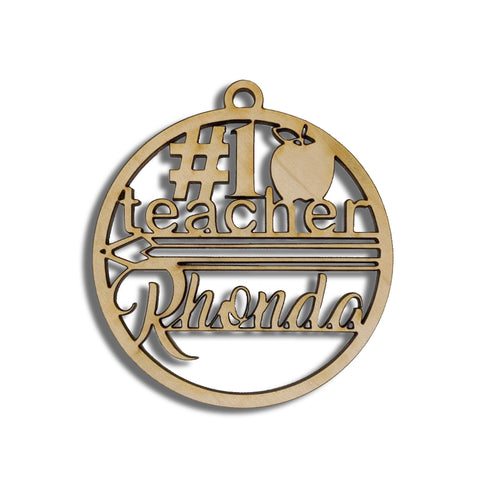 Ornament - #1 Teacher