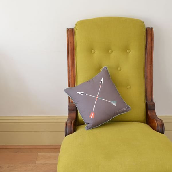 arrow motif cushion