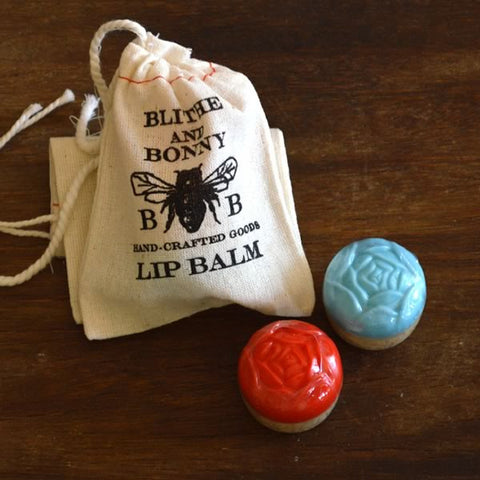 Blithe & Bonny Lip Balm in Cloth Pouch - Honey Almond-Coconut
