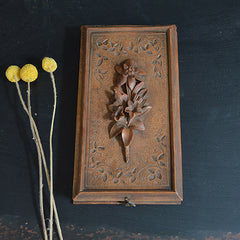 Vintage Wooden Flower Motif Box