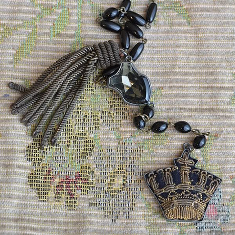 Crown Necklace - Black