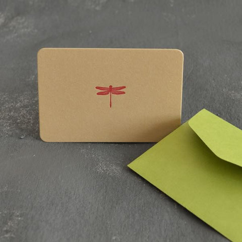 Letterpress card - Dragonfly