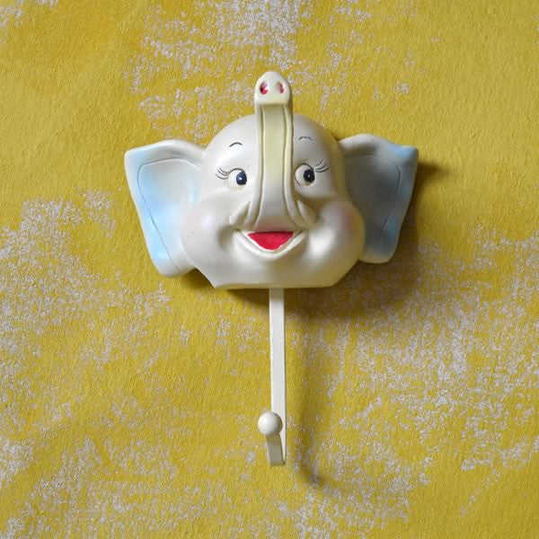 Adorable retro elephant coat hanger