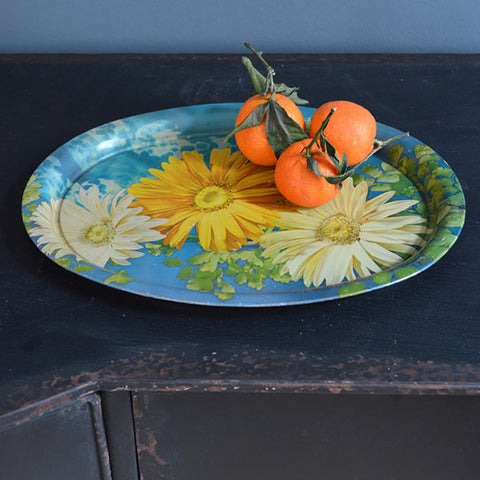 Vintage Indian Flower Tray
