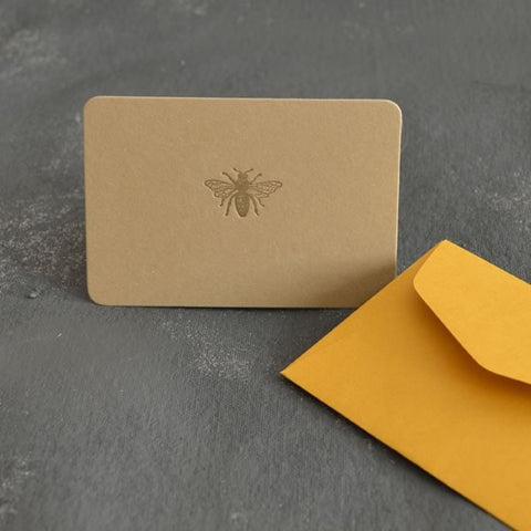 Letterpress card - Bee