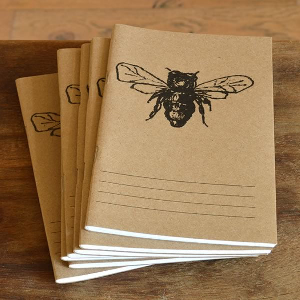 Blithe & Bonny Bee Hand-printed Note Booklet