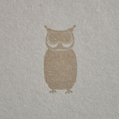 Letterpress Card - Owl