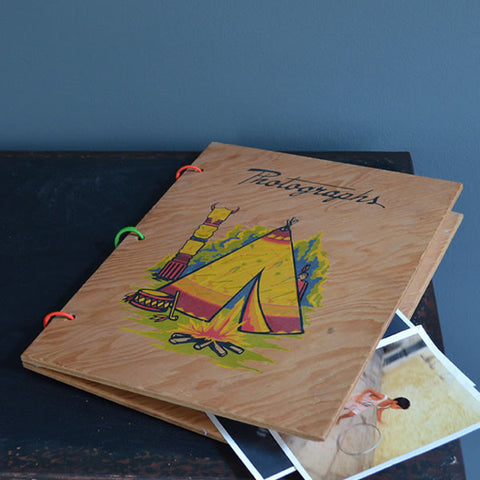 Vintage Wooden Picture Album