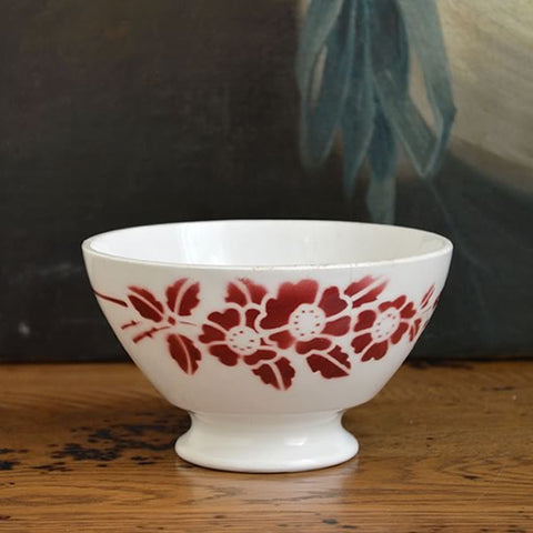 French Ceramic Bowl with Flower Motif