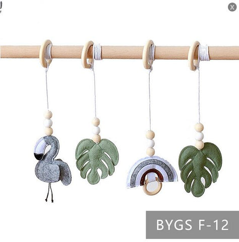 Ins Baby Gym Play Frame Nursery Sensory Ring-pull Wooden Educational Toys for Children Clothes Rack Kids Finness Room Decoration