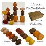 Wooden Stacked Stone Balanced Toy Montessori Education Colorful Rainbow Block Jenga Game Nordic Style Rainbow Wooden Toy For Kid