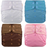 4 Pcs Lichtbaby Cloth Baby Pocket Diaper 4-16kg Large One Size Washable Eco-friendlyPcs