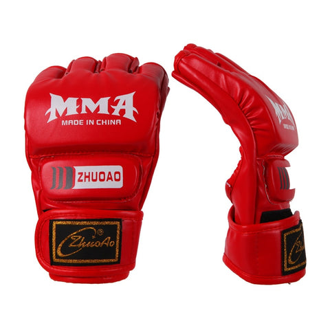 Open Fingers MMA Sparring Mitts Gloves