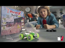 Load and play video in Gallery viewer, RAMP PARK Double Trixx 360 Pull Back Stunt Car with RAMP, Friction Powered, Can do Power Slide, Wall Ride, 360 Flip, Back to Back. Invent your own Tricks, GREAT GIFT FOR 3 4 5 6 7 8 Year Old Boys Girls
