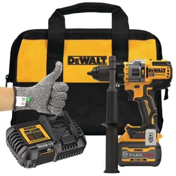 20-Volt MAX Cordless Brushless 1/2 in. Hammer Drill/Driver with FLEXVOLT ADVANTAGE Kit !