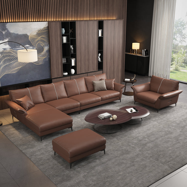 Latest l shaped chesterfield sofa set designs
