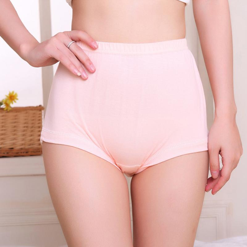 Middle-Aged Cotton High Waist Plus Size Underwear