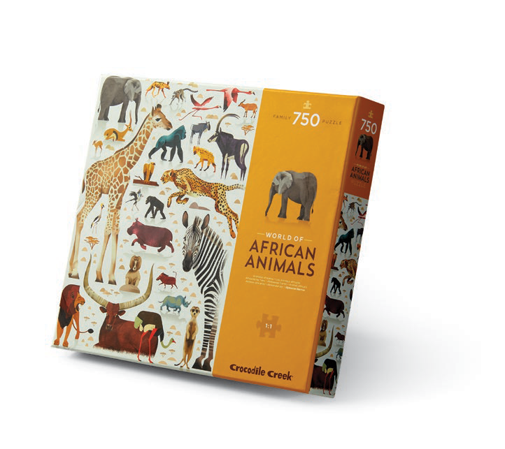 World of African Animals 750-Piece Puzzle by Crocodile Creek