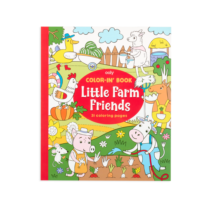 OOLY Color-In' Book - Little Farm Animals