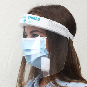 Milcoast Elastic Clear Face Shields - Lightweight, Anti-Fog, One Size Fits All