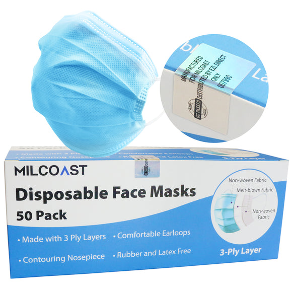 3 Ply Layer Disposable Face Masks - Personal Protection and Hygiene
