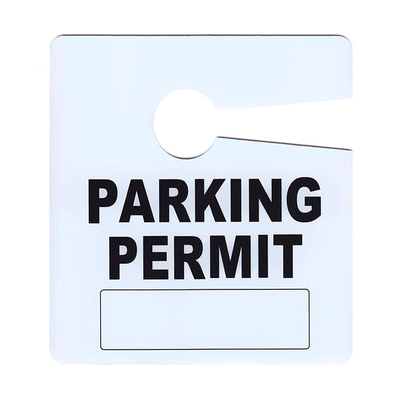 Milcoast General Parking Permit Pass Stock Hang Tags - 10 Pack
