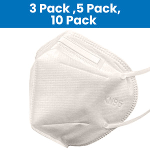[3 Pack, 5 Pack, 10 Pack] KN95 5 Ply Protective Respirator Face Masks - One Size Fits All - Personal Protection and Hygiene