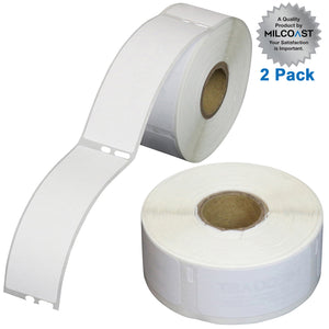 "Milcoast 1"" x 2-1/8"" Thermal Multipurpose Labels 30336 - Compatible with DYMO Labelwriter Printer - White"