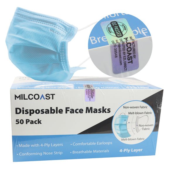 4-Ply Layer Filter Disposable Premium Face Masks for General Use