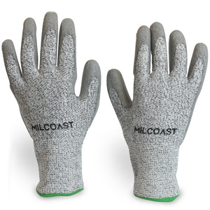 Milcoast Level 5 Cut Resistant Gloves - Pack of 3 Pairs