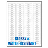 "Milcoast Glossy Adhesive Address Labels 1/2"" x 1-3/4"" - 4000 Labels (50 Sheets)"