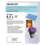 "Milcoast Glossy Full Sheet 8.5"" x 11"" Clear Translucent Waterproof Adhesive Sticker Paper Labels"