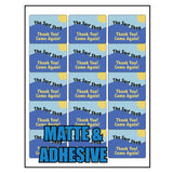 "Milcoast Matte Adhesive 2"" x 2-5/8"" Rectangle Shaped Labels - 375 Labels (25 Sheets)"