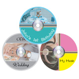 Milcoast Matte Waterproof DIY CD/DVD/Blu-ray Disc Labels - 50 Label Sets (25 Sheets)