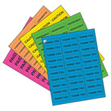 "Milcoast Bright Neon Matte Waterproof Tear Resistant Address Labels - 1"" x 2-5/8"" - 5 Color Pack - 750 Labels (25 Sheets)"