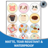 "Milcoast Matte Waterproof Printable Vinyl 2.5"" Round Circle Sticker Labels (20 Sheets)"