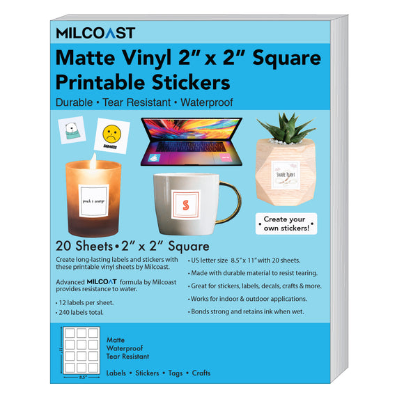 Milcoast Matte Waterproof Printable Vinyl 2