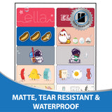 "Milcoast Matte Waterproof Printable Vinyl 2"" x 4"" Rectangle Sticker Paper Labels (20 Sheets)"