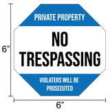 "Milcoast ""No Trespassing"" Static Cling Window Stickers - 4 Pack"