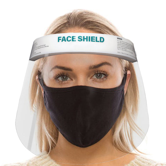 Bulk 50 PCS - Milcoast Elastic Clear Face Shields - Lightweight, Anti-Fog, One Size Fits All