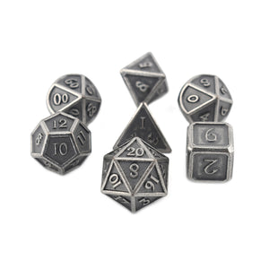 Ancient Silver - 7pc RPG Dice Set