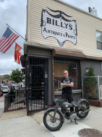 Billy just bought a WW2 Motorcycle in front of store @196 Greenpoint Ave. Brooklyn NY 11222